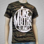 Like Moths To Flames Circle Logo Camo T-Shirt