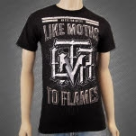 Like Moths To Flames Eye For An Eye Black T-Shirt