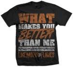 Like Moths To Flames Lyrics Black T-Shirt