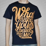 Like Moths To Flames What Makes You Better Cursive Navy T-Shirt