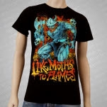 Like Moths To Flames Warrior Black T-Shirt