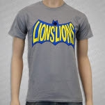 Lions Lions Bat Gravel Grey T-Shirt