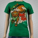 Lions Lions Snow Lion Green T-Shirt