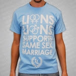 Lions Lions Supports Same Sex Marriage Light Blue T-Shirt