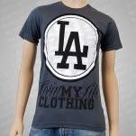 Livin My Life LA Charcoal T-Shirt