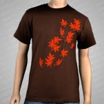 Lotus Tattoo Leaves Brown T-Shirt