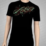 official Lotus Tattoo Splatter Black T-Shirt
