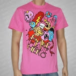 LoveHateHero Cartoon PINK T-Shirt