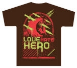 LoveHateHero Lion Dagger Brown T-Shirt