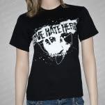 official LoveHateHero Skull Black T-Shirt