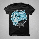 Loyal To The Grave Against The Odds Black T-Shirt