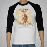 Madina Lake World War III BlackWhite Baseball T-Shirt