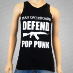 Man Overboard Defend Pop Punk Black Tank Top