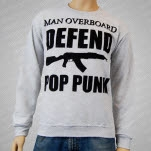 Man Overboard Defend Pop Punk Heather Gray Crewneck Sweatshirt