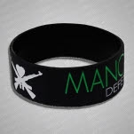 Man Overboard DPP Green Logo Version Black Wristband