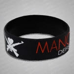 Man Overboard DPP Red Logo Version Black Wristband