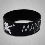 Man Overboard DPP White Logo Version Black Wristband