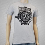 Man Overboard Sword Crest Heather Grey T-Shirt