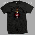 Man Overboard Traditional Heart Attack Charcoal T-Shirt