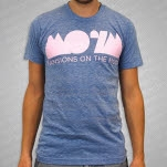 Mansions On The Moon Logo Tri Blue T-Shirt