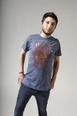 Mantralogy Mehendi Hands Burnout Blue T-Shirt