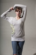 Mantralogy Saraswati Oatmeal Long Sleeve Shirt