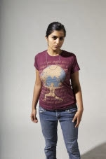 Mantralogy Shakti Maroon Girls T-Shirt