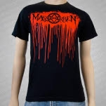 Massakren Bloody Logo Black T-Shirt
