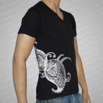 Mayapuris Kirtan High Earth V Neck Black T-Shirt