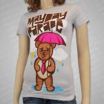 Mayday Parade Weather Bear Silver Girls T-Shirt