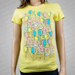 Mayday Parade Balloons Yellow Girls T-Shirt