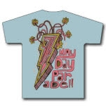 Mayday Parade Lightning Bolt Light Blue Girls T-Shirt