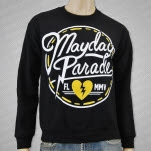 Mayday Parade Circle Logo Black Crewneck Sweatshirt