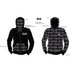 Mayday Parade Custom Reversible Black Hoodie Zip