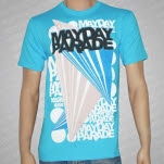 Mayday Parade Diamonds Aqua T-Shirt