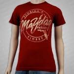 Mayday Parade Floridas Finest Maroon T-Shirt