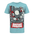 Mayday Parade Floater Light Blue T-Shirt