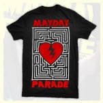 Mayday Parade Heart Maze Black T-Shirt