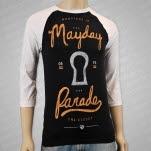 Mayday Parade Keyhole Black Baseball T-Shirt