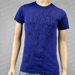 Mayday Parade Lightning Bolt Tri Blend Blue T-Shirt