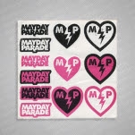 Mayday Parade Logo And Broken Heart  Sheet Sticker