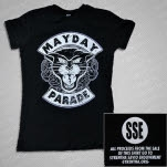 Mayday Parade Panther Black Girls T-Shirt