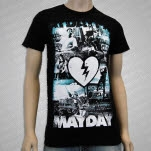 Mayday Parade Photo Collage Black T-Shirt