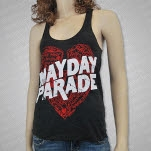 Mayday Parade Sketchy Heart Black Girls Tank Top