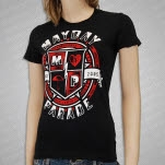Mayday Parade Shield Black Girls T-Shirt
