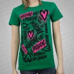 Mayday Parade Sketchy Green Girls T-Shirt