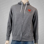 Mayday Parade SOS Heather Gray Hoodie Zip