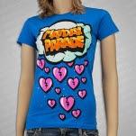 Mayday Parade Storm Turqouise Girls T-Shirt