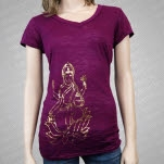 MC Yogi Lakshmi Violet Girls T-Shirt