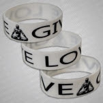 MC Yogi Give Love White Wristband